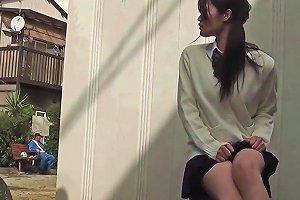 Asian Student Upskirt