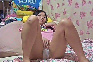 Asian Schoolgirl Rubbing Japanese
