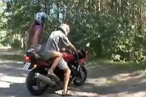 Teen Babe Loves This Biker And Uses Her Mouth And Pussy Drtuber