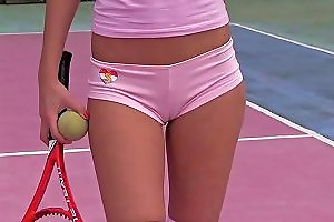 Teen On The Tennis Court Masturbates Sensually