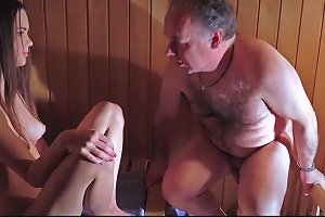 Amazing Beautiful Teen Is Fucking An Old Man In The