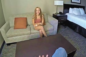 Petite Brunette Holly Gets Pounded By A Married Man For Cash